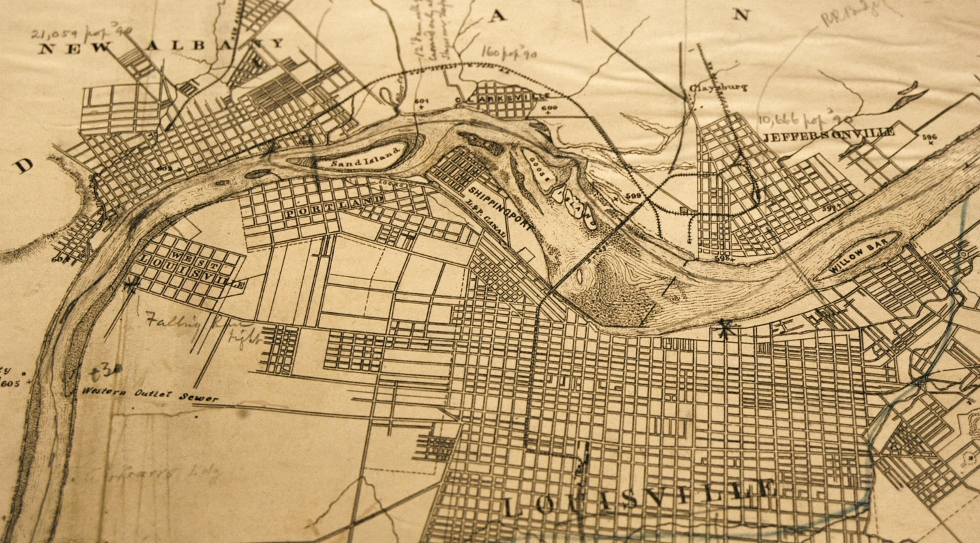 Historic map of Louisville